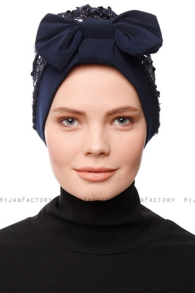 Enfleda - Turbante Blu Navy