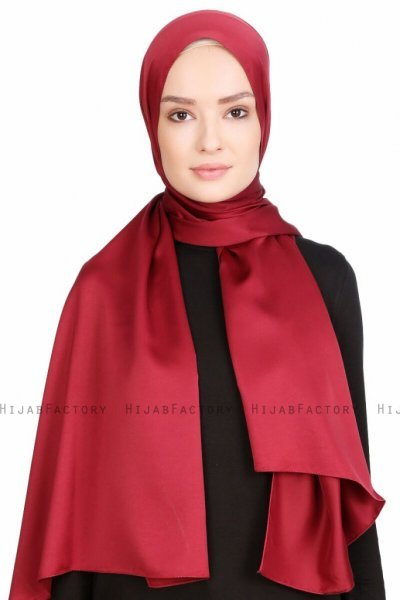 Nuray Glansig Bordeaux Hijab 8A15a