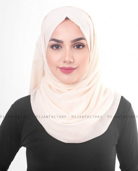 Pale Dogwood Puder Bomull Voile Hijab 5TA82a